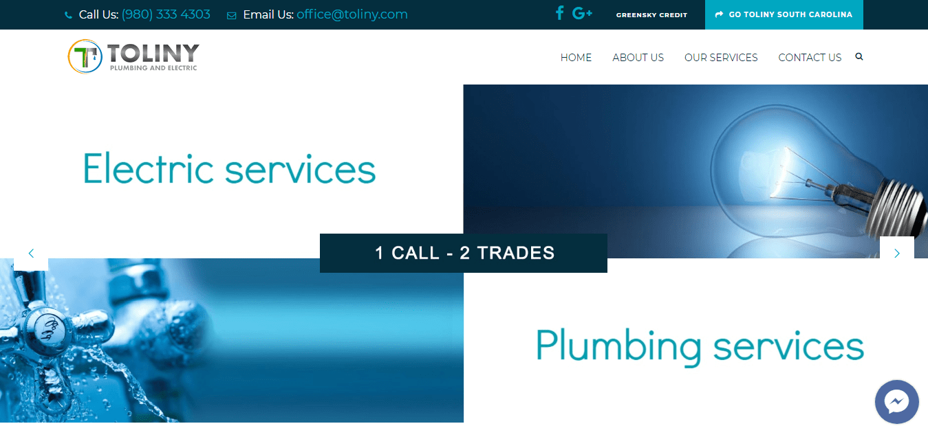 Toliny Plumbing & Electric Charlotte - USA | Website Design ...